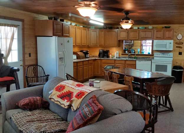 Kitchen in Welcome Center - Archway RV Park