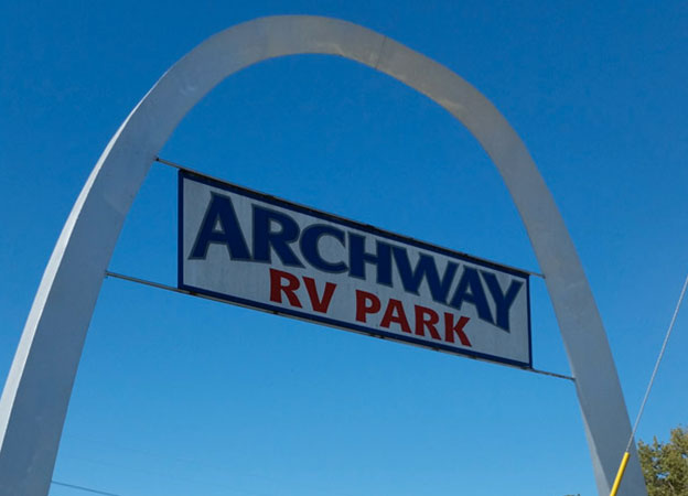 Archway RV Park entrance sign