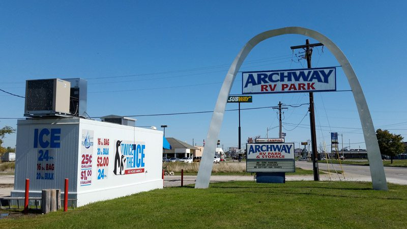 Archway RV Park entrance